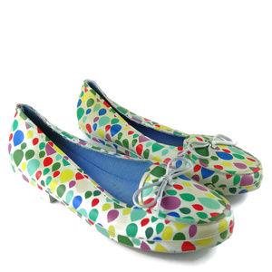 KATE SPADE Rubber Rain Loafers Multicolor Raindrop